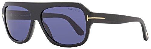 Tom Ford Mens Omar Oversized Retro Aviator Sunglasses Black - Ford Retro