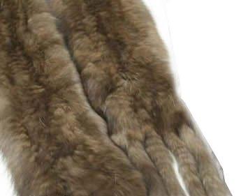 (レディースセーブルマフラー)ロシアンセーブルニットファーマフラー毛皮マフラー4902(ブラウン)
