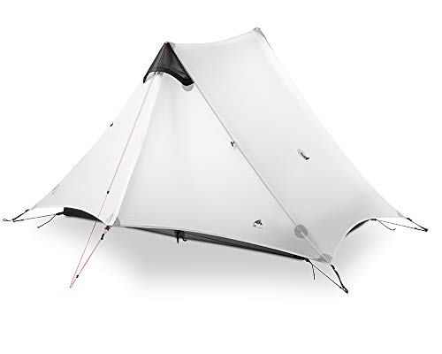 3F-UL-GEAR-2018-Lancer-2-2-Person-Oudoor-Ultralight-Camping-Tent-4-Season-Professional-15D-Silnylon-Rodless-Tent-White