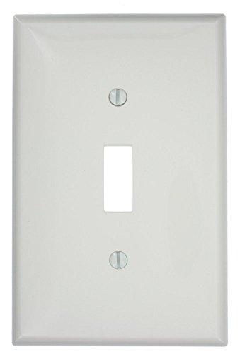 Leviton PJ1-TM 1-Gang Toggle Switch Wallplate, 10-Pack, Light (10 Leviton Almond)