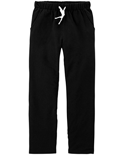 Carter's Boys' Pull-On French Terry Pants (Toddler/Kid) (14, Black)