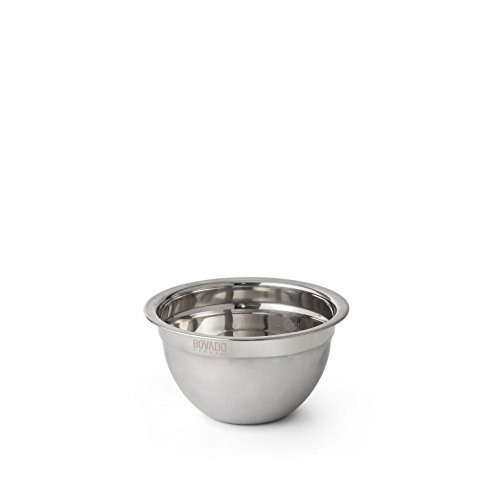 Stainless Steel Mixing Bowl - .75qt - Flat Bottom Non Slip Base, Retains Temperature, Dishwasher Safe - By Bovado USA ()