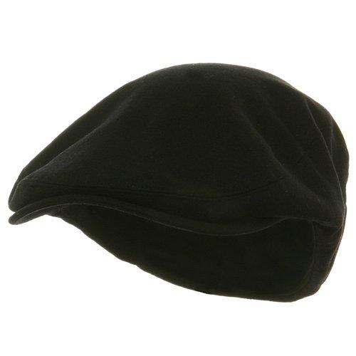 E4hats Wool Cap (Big Size Elastic Wool Ivy Cap - Black W07S38B)