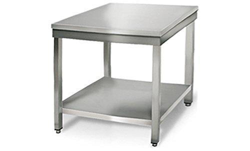 GOO Gastro GO7062G Gewerbe Arbeitstisch 0, 8m - mit Grundboden B 800 x T 700 x H 850 mm Edelstahl Tisch Edelstahltisch Kü chentisch Arbeitstisch Anrichte