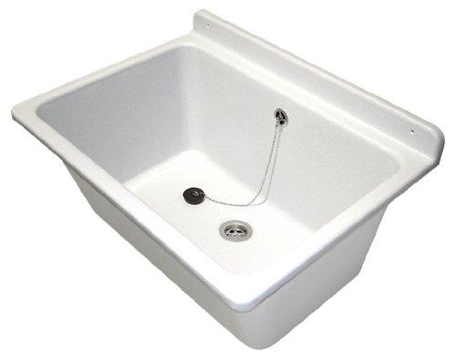 Becken Waschküche sanit waschtrog mit überlauf inklusive befestigungsset waschbecken