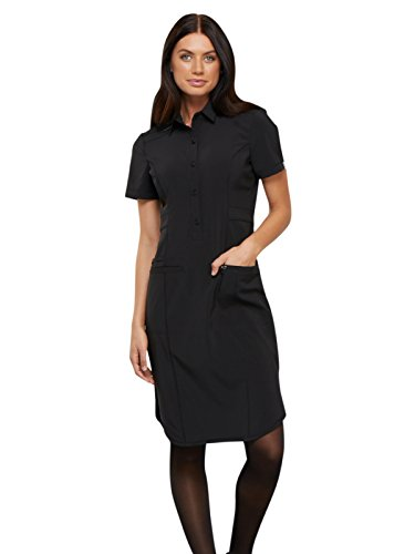 Cherokee Infinity CK510A 39 inch Button Front Dress Black L