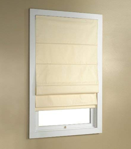 Green Mountain Vista Thermal Blackout Cordless Roman Shade, 36 by 63-Inch, Ivory