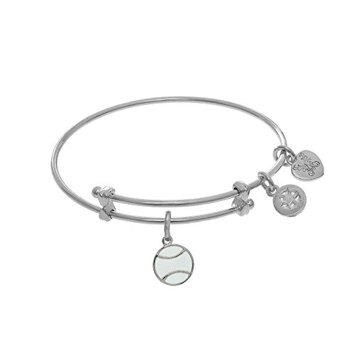 Angelica Softball Enamel Charm Expandable Tween Bangle Bracelet -  Angelica Collection