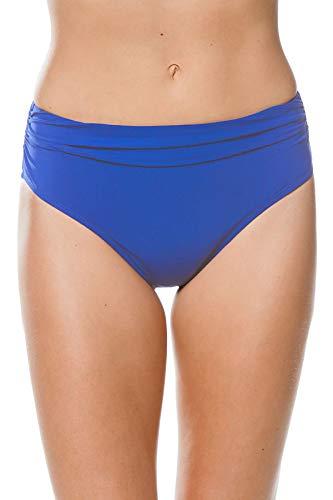 (Profile by Gottex Women's Ruched High Waist Swimsuit Bottom, Tutti Frutti Sapphire, 8)