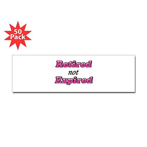 CafePress - Retired Not Expired - Girl Copy - Sticker (Bumper 50 pk)