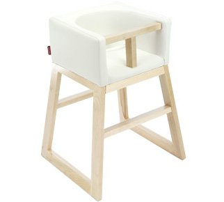 Tavo High Chair by Monte Design (White Bonded Leather Body with Clear Maple Wood Base  sc 1 st  Amazon.com & Amazon.com : Tavo High Chair by Monte Design (White Bonded Leather ...