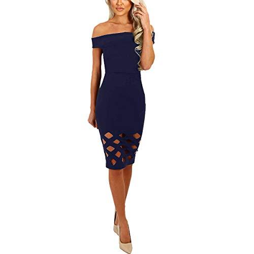 de Taille Basse Blue Sapphire Genou Taille Bandoulire Haute Robe Creuse qw7tPtp