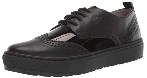 - Geox Women's BREEDA 19 Wingtip Sneaker Shoe, Black Oxford, 36 Medium EU (6 US)
