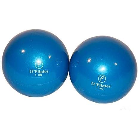 LF Pilates Pelotas lastrados Azules - 1 kg: Amazon.es: Deportes y ...