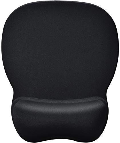 MROCO Ergonomic Mouse Pad with Gel Wrist Rest Comfortable Mouse Pad with Wrist Support, Pain Relief Mousepad with Non-Slip PU Base Mouse Mat for Home, Office & Travel, 9.4 x 8.1 inches, Black ()
