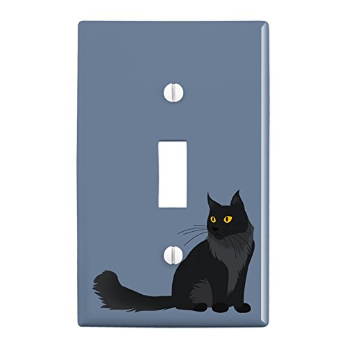 GRAPHICS & MORE Maine Coon Cat Plastic Wall Decor Toggle Light Switch Plate Cover