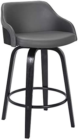 Alec Faux Leather Swivel Barstool