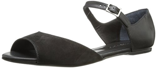 Bernardo Women's Opal Mary Jane Flat,Black Nubuck/Nappa,9 M US
