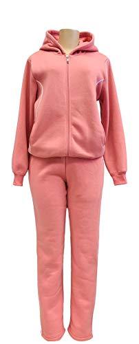- unik Women Fleece Sweatsuit Set (Medium, Rose)