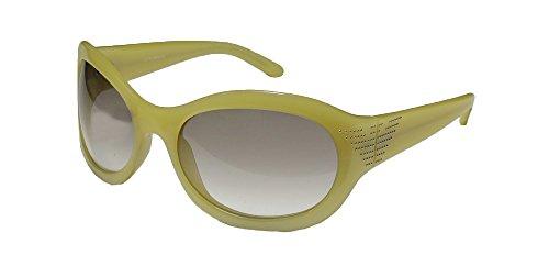 Emporio Armani 9241 Mens/Womens Wrap Full-rim Gradient Lenses Rhinestones Sunglasses/Shades (59-20-115, Yellow Opal / Gradient - Shades Armani Emporio