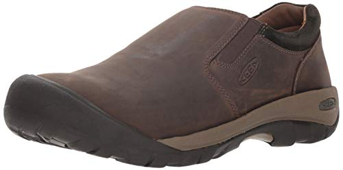 Keen Men's Austin Casual Slip-ON Shoe, Chocolate Brown/Black Olive, 10.5 M US