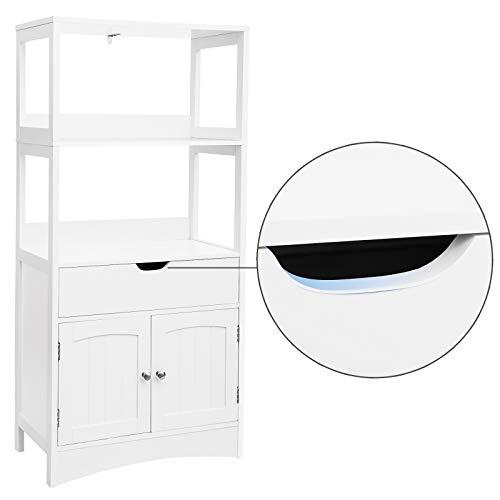 Bathroom Storage Cabinet W//Drawer 2 Open Shelf/&Door Cupboard Large Floor cabinet