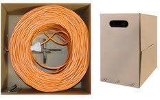 Bulk Cable UTP Orange PcConnectTM CAT6 1000 feet Cable Solid