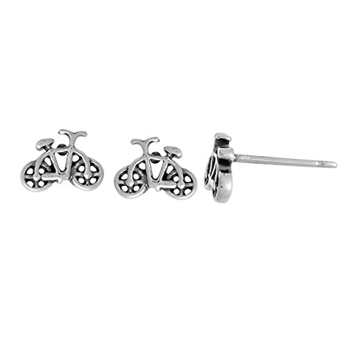 Boma Jewelry Sterling Silver Bicycle Stud Earrings