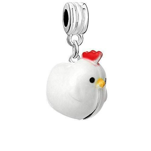Pendant Jewelry Making Christmas Ornament Chicken Bell Charm Bead ()
