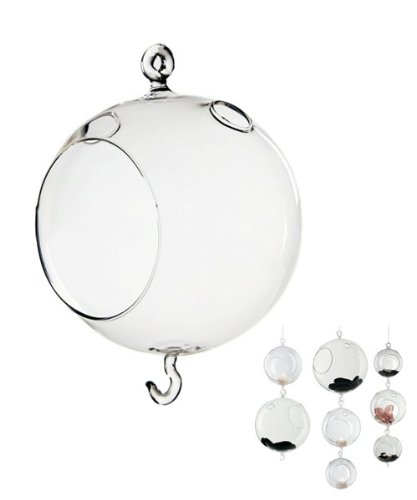 """New Clear 4.5/"""" Glass Hanging Plant Terrarium Tealight Candle Holder Orbs 48pcs"""