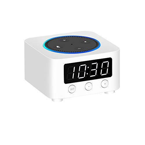 Clock Stand for Amazon Echo Dot 2nd Gen (Not 3rd Gen) - White