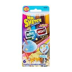 Mr. Sketch Scented Washable Marker Set 6/Pkg-Stix Movie Nigh