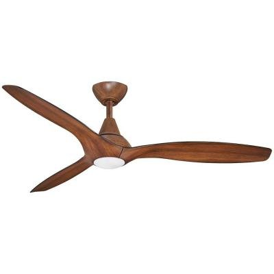 Tidal breeze 56 in led indoor distressed koa ceiling fan