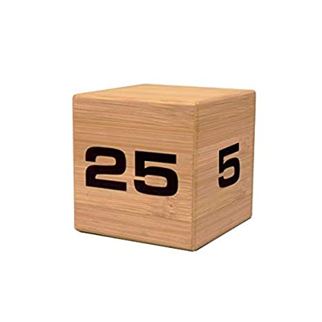 The Miracle TimeCube Timer, Natural Bamboo Wood, 5,10, 20 and 25 Minutes,  for Time Management, Kitchen Timer, Kids Timer, Workout Timer