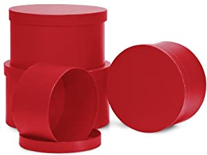 Amazon.com: Nested Gift Boxes, Bright Red, Round Set/4: Home & Kitchen