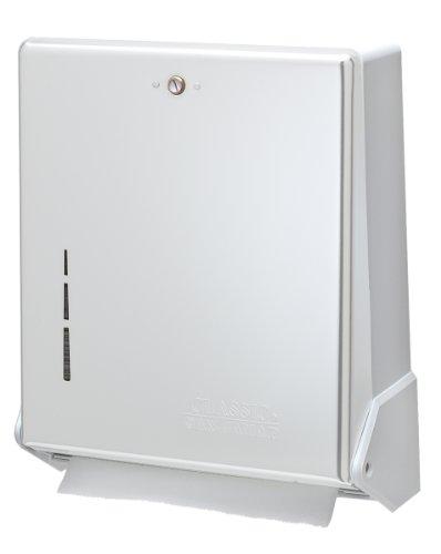 Singlefold Paper Towel Dispenser, White, 10 3/4 x 6 x 7 1/2