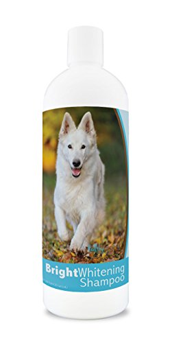 Healthy Breeds Dog Whitener Shampoo for German Shepherd - for White, Lighter Fur - Over 150 Breeds - 12 oz - with Oatmeal for Dry, Itchy, Sensitive, Skin - Moisturizes, Nourishes Coat