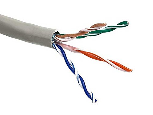 Cat5e Gray 500ft Bulk Ethernet Cable 350 MHz 24AWG UL -CSA UTP 8C Solid Bare Copper
