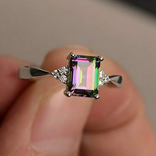 (Waldenn 925 Silver Gemstone Ring Jewelry Women Men Wedding Amethyst Gift Party Size 6-10   Model RNG - 14936   6)