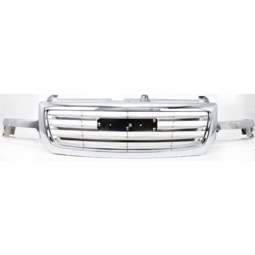 Perfect Fit Group G070104C - Sierra P/U Grille, Chrome, Exc. 2500 Hd/ 3500 Series Models, Old Body Style