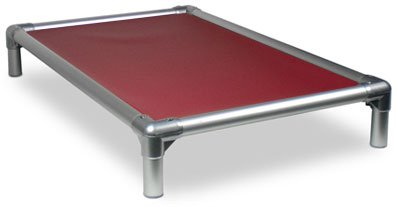Kuranda All-Aluminum (Silver) Chewproof Dog Bed - Small (30x20) - 40 oz. Vinyl - Burgundy