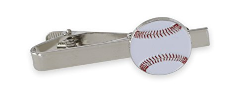 Forge Baseball Enamel Cufflink + Lapel Pin + Tie Bar (Silver Tie Bar)