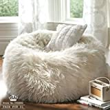 Big Size Faux Fur 01 Furniture Sofa Adault Bean Bag Chair Cover Sapateira Korss Big Lounger Chairs Bed Without Filler