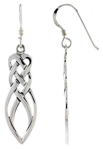 .925 Sterling Silver Irish Celtic Motherhood Knot Dangle Earrings