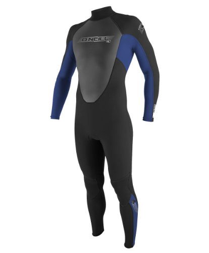 O'Neill Youth Reactor 3/2mm Back Zip Full Wetsuit, Black/Pacific/Black, 16