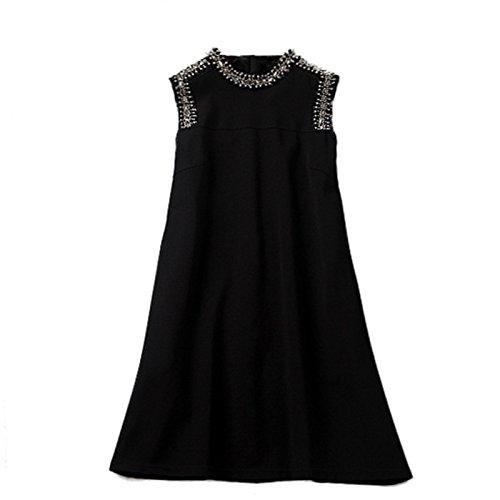Skirt Black GAOLIM Spring Girl Dress Sleeveless Dress Womens Loose Hit The Ground A,2XL