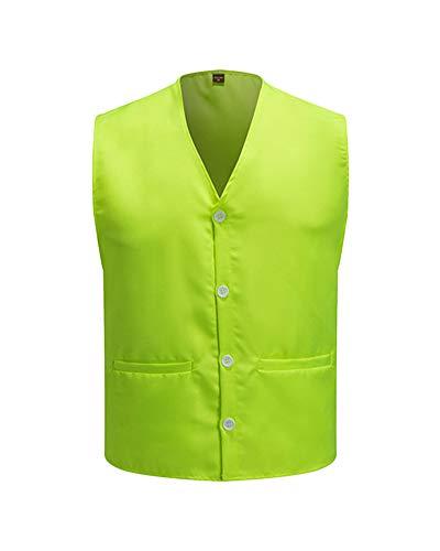 Bouton Vest Uniforme Verde Activités Gilet Sécurité De Hôtelières Volontaire w0BnF1xq
