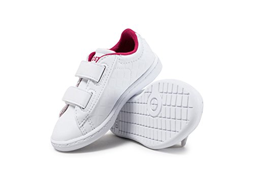 Lacoste Carnaby Evo 417 1 White/Pink Synthetic Baby Trainers White