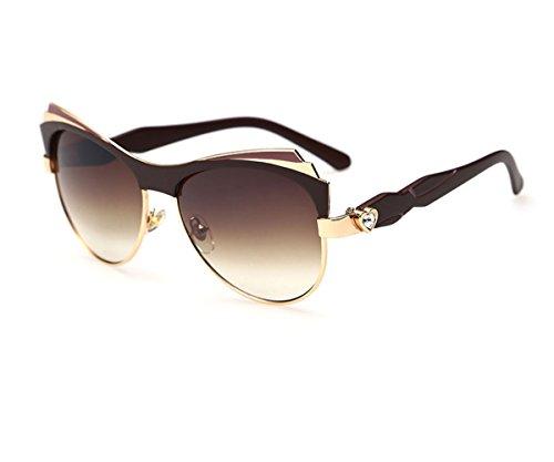 Heartisan Personalized Half Frame Horn Cat Eye UV400 Sunglasses - 21 Forever Round Sunglasses