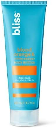 Bliss - Blood Orange & White Pepper Body Butter | Maximum Moisture Cream | Daily Moisturizer for Women & Men| Vegan | Cruelty Free | Paraben Free | 6.7 fl. oz.